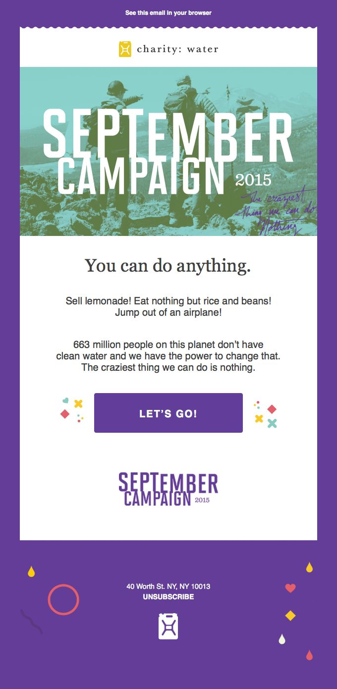 charity: water #email