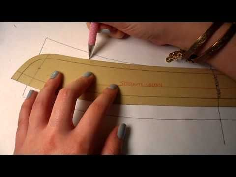 pattern cutting tutorial: how to fix the bend of a collar pattern so the collar stand doesn't peek out