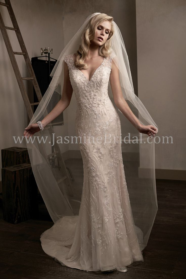 Jasmine Bridal - Couture Style T192014 in Nude