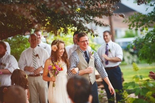 Colorful Gingham DIY wedding via Elizabeth Anne Designs.