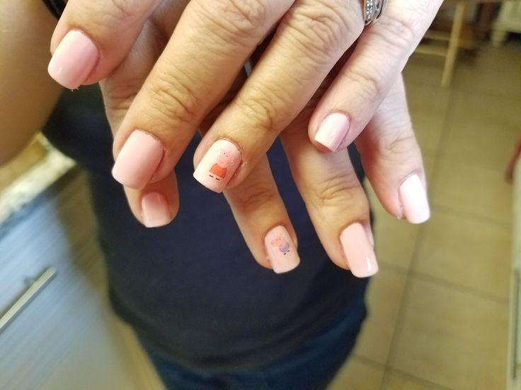 Peppa Pig Nails. OPI Hello Kitty Pink