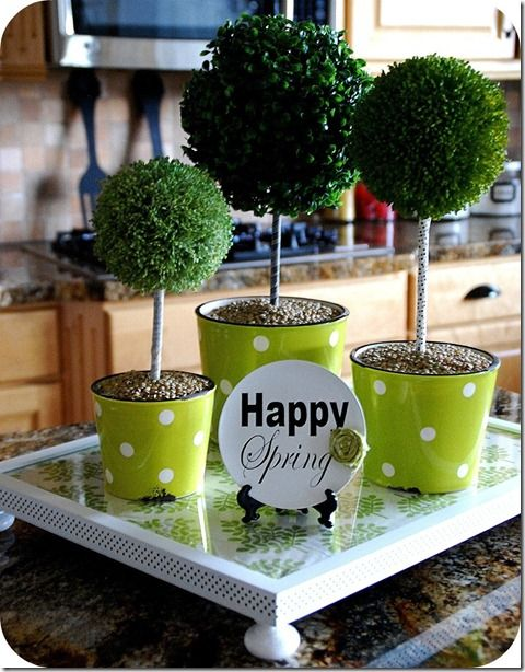 so cute: Decor Ideas, Polka Dots, Spring Decor, Spring Centerpieces, Topiaries Centerpieces, Washi Tape, Pictures Frames, Tape Topiaries, Spring East