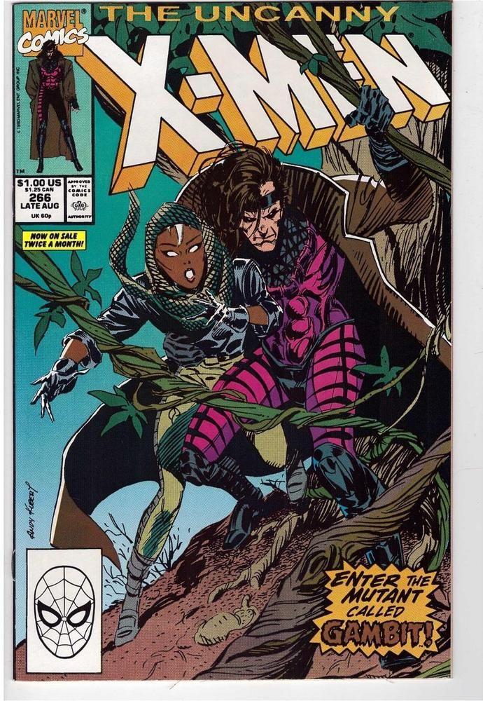 The Uncanny X-Men #266 Aug 1990 Marvel Comic Book First App Gambit High Grade