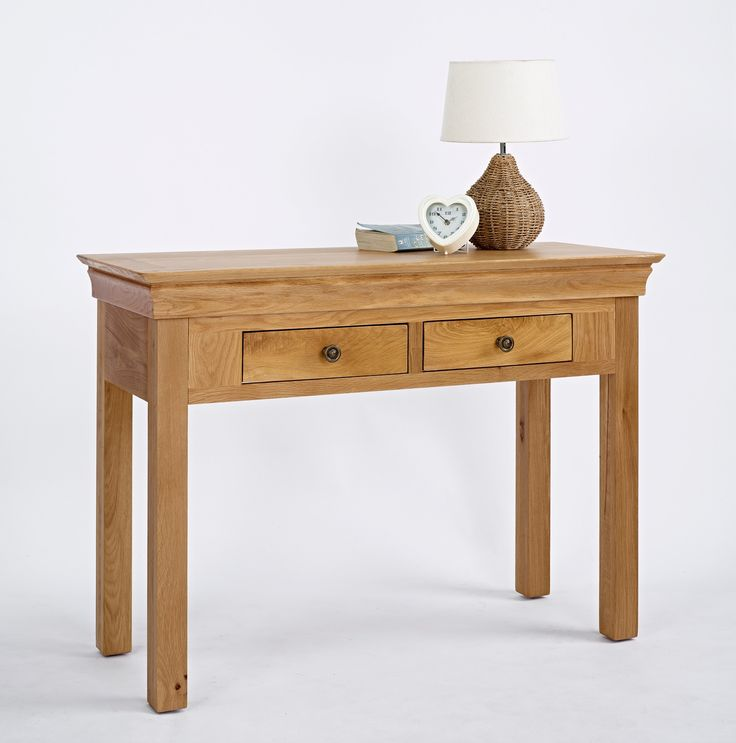 Add a dash of exuberance to any room in your home with this enchanting French style console table. Modern and oh-so-elegant it features sleek lines and antique brass drawer handles. Speaking of drawers, there are two, providing plenty of storage space for all your essential accoutrements. £181