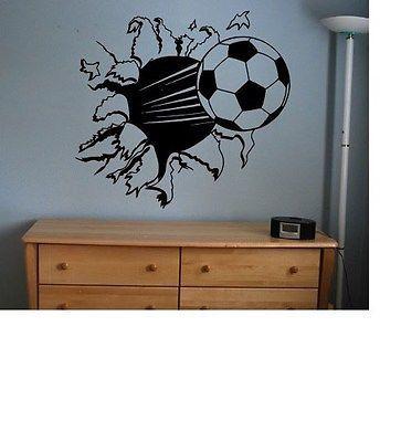 футбольный мяч стикер этикетка Kids декор комнаты спорт футбол БОЛЬШАЯ СПАЛЬНЯ стену большой