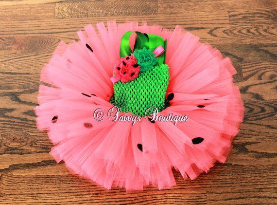 Watermelon Tutu Dress Party Dress Baby Girls Dress by SavvysBtq