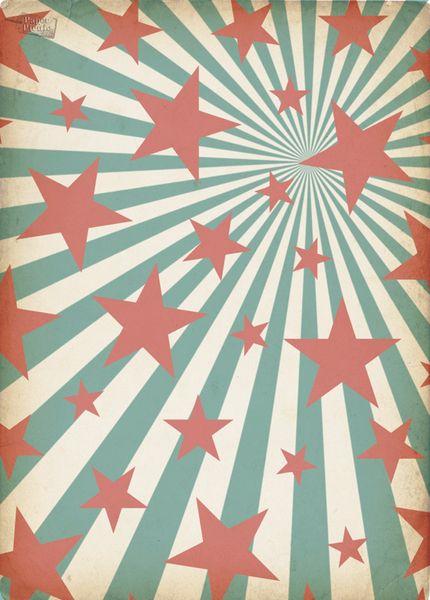Retro Vintage Stars & Stripes High Quality Eco Friendly Gift Wrap - PaperPicnic.com