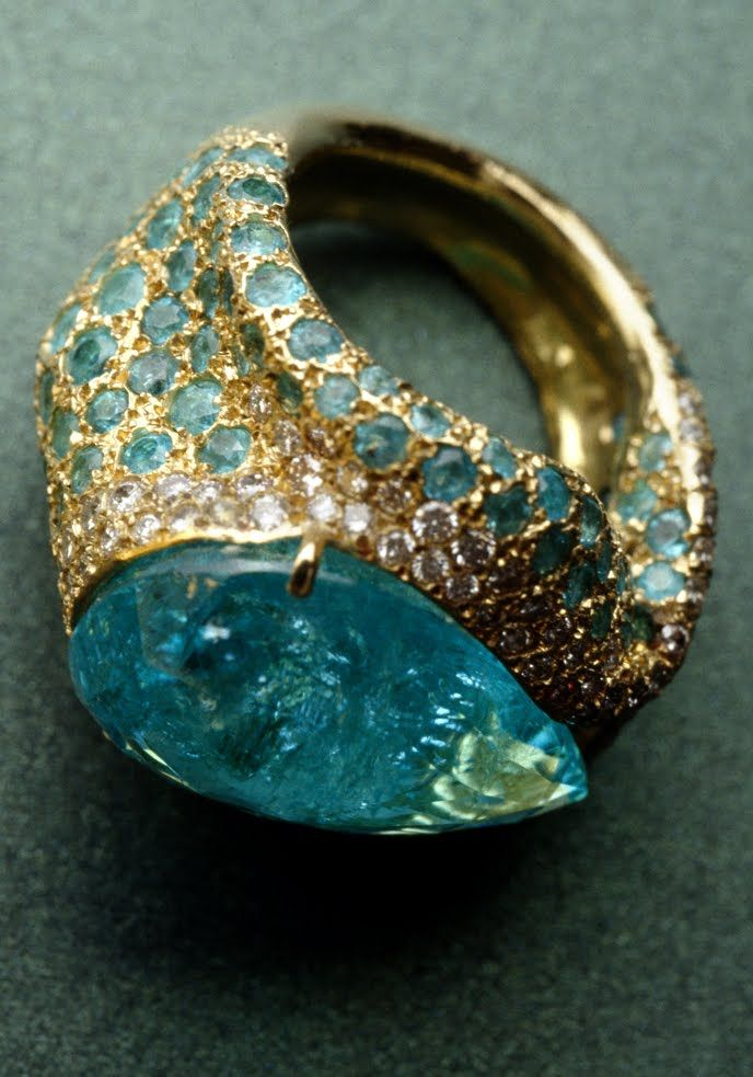 Gemstone Ring from Sea Colors Collection - Misara Davossa - Unique Jewelry