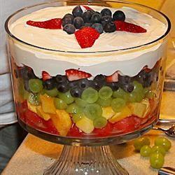 Schicht-Obst-Salat