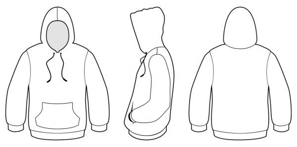 Download Download Hooded Sweater Template Vector Illustration Stock Illustration Hoodie Vector Hoodie Template T Shirt Design Template