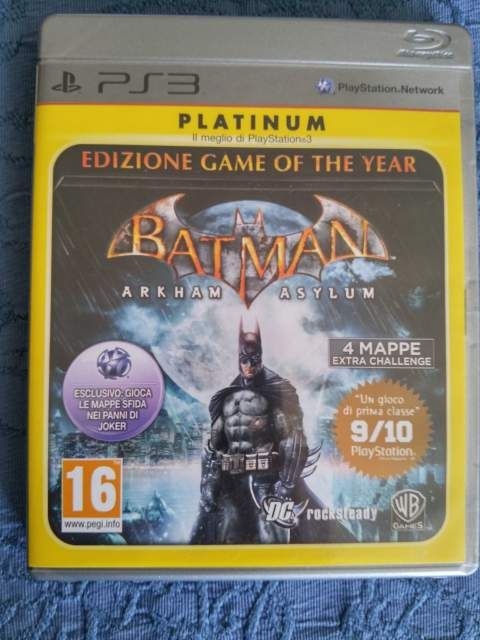 Batman arkham asylum goty ps3 pal ita platinum come nuovo