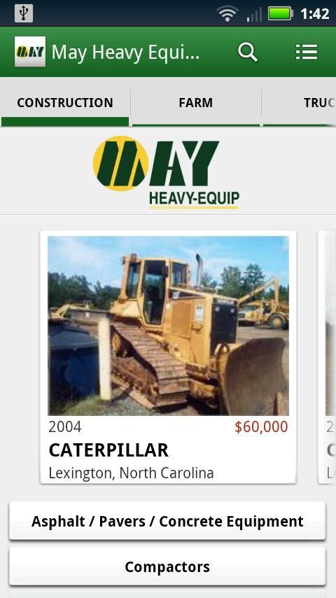 Founded in 1997 by Bert and Jacob May, May Heavy-Equip Rental & Sales has grown throughout the southeast as a reliable source for heavy equipment rentals, sales and service. May services Virginia, North Carolina, South Carolina, Georgia, and Florida, and sells its used equipment worldwide. With over 45 years of industry experience between them, the Mays are dedicated to providing customers quality heavy equipment, excellent service and competitive pricing. Given it's expansive inventory and…