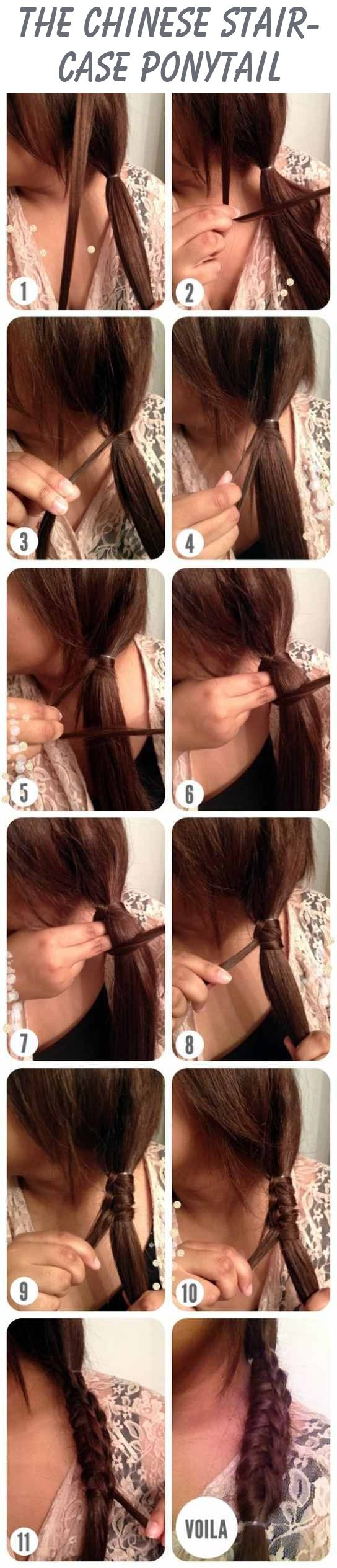 Chinese  Staircase  Ponytail  Hairstyle