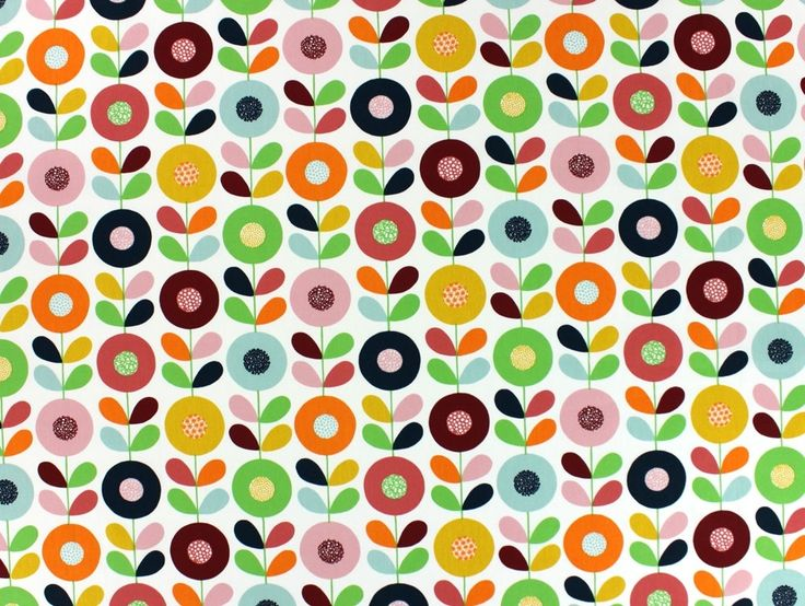 Dekostoff, Cirkelblomma, rot, 100427-01,  bei stoffe-hemmers.de, Exklusiver schwedischer Dekostoff mit eindrucksvollem Design von Betty