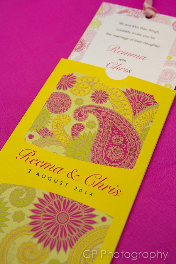 Bombay Mix Asian wedding invitation just featured in Your Berks, Bucks and Oxon wedding magazine.  Perfect for Asian weddings or anyone looking for a bright and colourful wedding invite.  These stunning invitations would also lend the self well to a Bollywood themed party or Mehndi celebration.  Full matching wedding stationery and table accessories available from www.fuschiadesigns.co.uk.