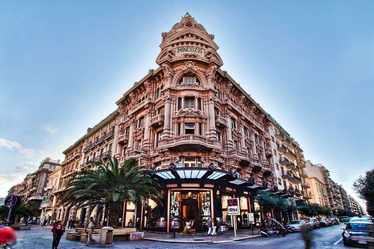 The most famous shopping streets in Bari are the Via Sparano, the Via Argiro and the Via Manzoni