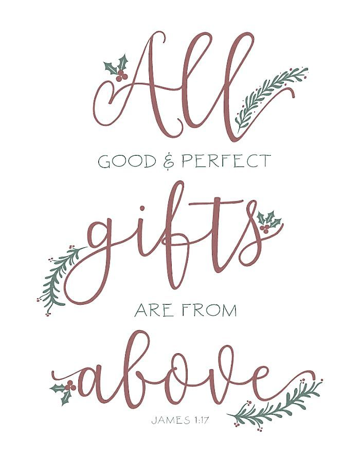 James 1 : 17