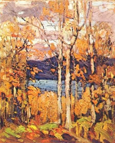 Tom Thompson painting of Algonquin October