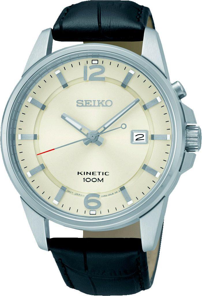 SEIKO SKA667P1 Pánske kinetické hodinky s dátumom