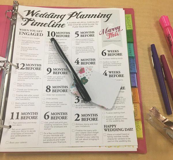 a diy wedding planning binder to get your big day organized free printable wedding planning checklist diywedding