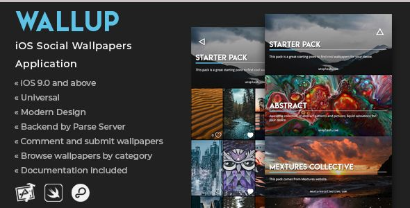 WallUp   iOS Social Wallpapers Application Nulled   Nulled