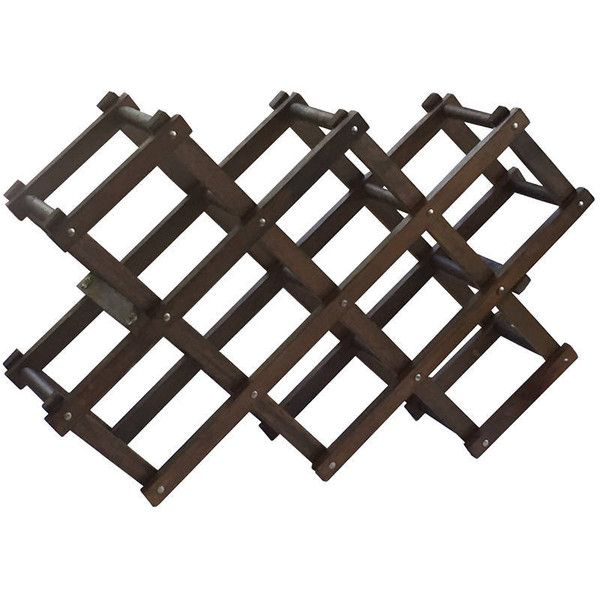 Vintage Accordian Adjustable Wine Rack Rustic Wooden Holder Retro Wine... ($28) ❤ liked on Polyvore featuring home and kitchen & dining