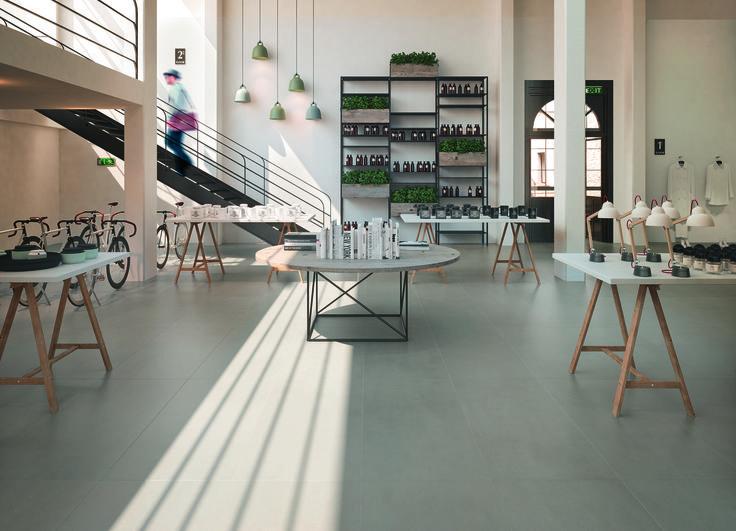 #marazzi | #SistemP | #floortiles | #contract | #concreteeffect