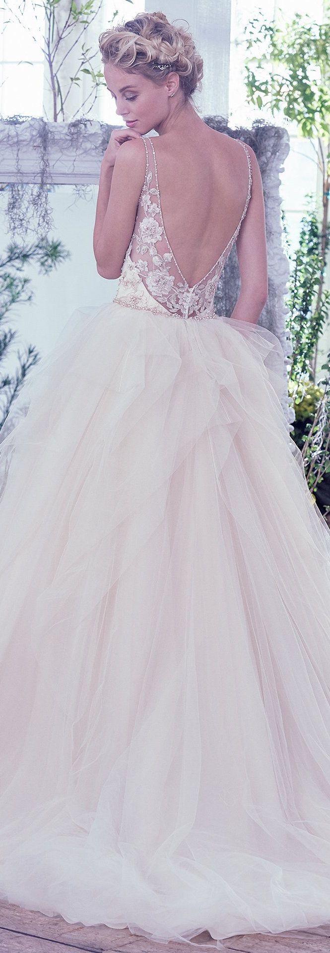 Wedding Dress by Maggie Sottero 2016 Fall/Winter Collection - Carlota   #maggiesottero #maggiebride