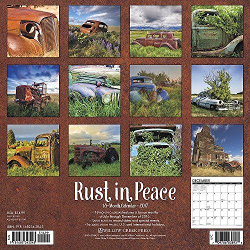 Rust in Peace 2017 Wall Calendar