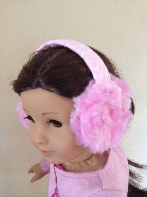 SUPER easy earmuff tutorial for American girl dolls. Uses a water bottle &…