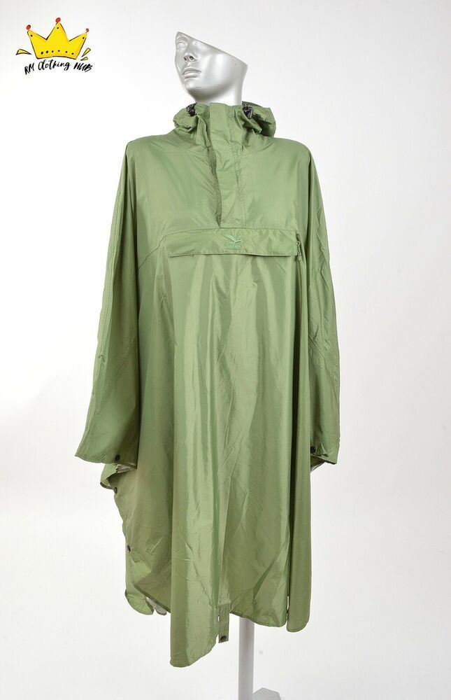 SALEWA Women Mens Raincoat Full Lenght Big Back Pocket