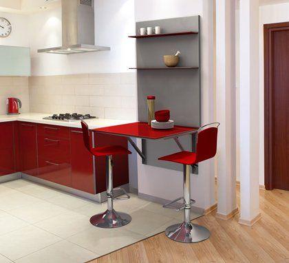Cocinas mesa de cocina con mini barra mesas y sillas for Barras de cocina modernas