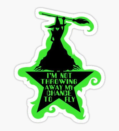 Hamilton Musical Crossover. Wicked Musical Parody. Sticker