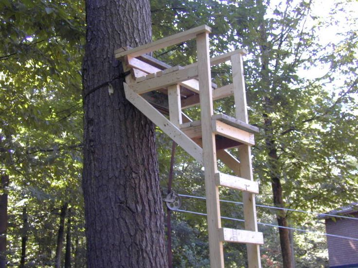 Wooden ladder tree stands plans portal for the land for Enclosed tree stand designs