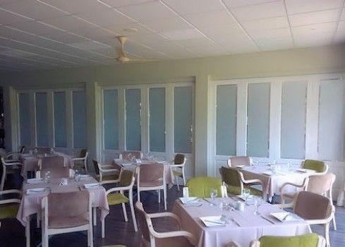 completed folding wooden doors restaurant