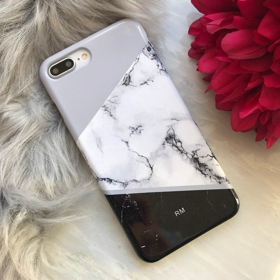 Personalised Marble Phone case, iPhone 7, 8, X, 6, 6s Plus,custom name monogram case, personalized, Black Marble iPhone XS XR, Gaxaxy 8 9