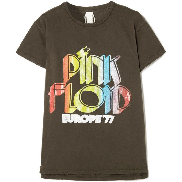 853d76f7ae3 MadeWorn Pink Floyd distressed printed cotton-jersey T-shirt ( 215 ...