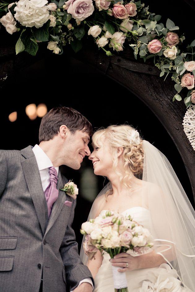 Dusky Pink Fairytale Wedding In A Barn | Bridal Musings Wedding Blog- Love the vine!