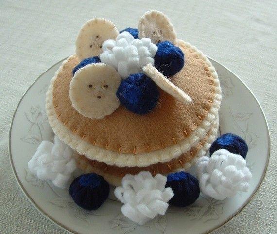 Blueberry Pancakes Fun Felt Food