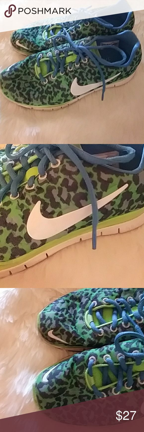 NIKE Leopard shoe used but in good condition Nike Shoes Sneakers