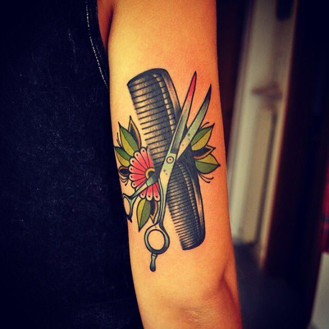 Hairdressing Scissors Tattoo