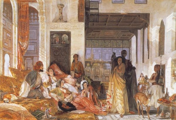"""""""The Hhareem"""" by J.F. Lewis (c.1850)"""
