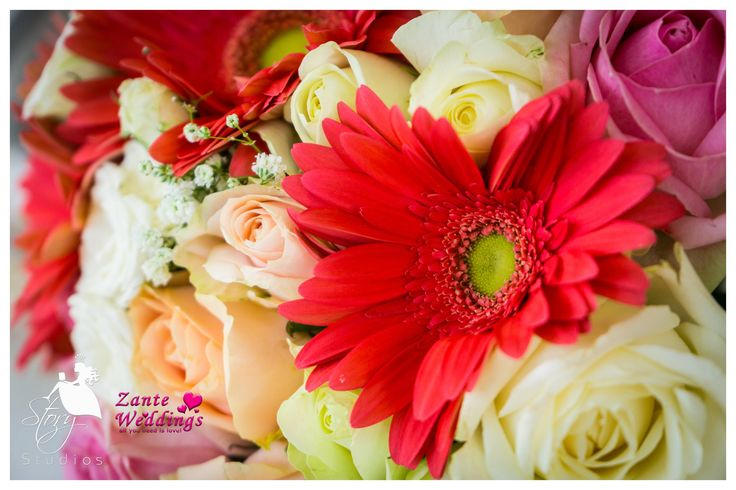Bright and colourful bridal flowers!