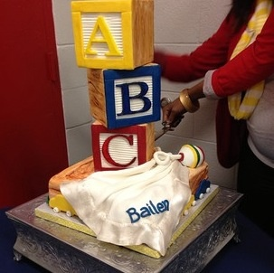 Cake for the shower by the awesome cake artist Amber Sims #AgapeAffairs