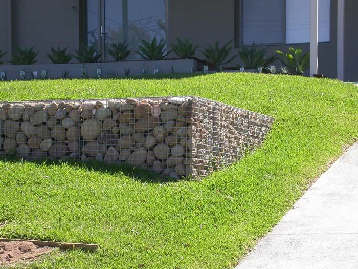 127 best images about gabions on pinterest for Gabion landscaping
