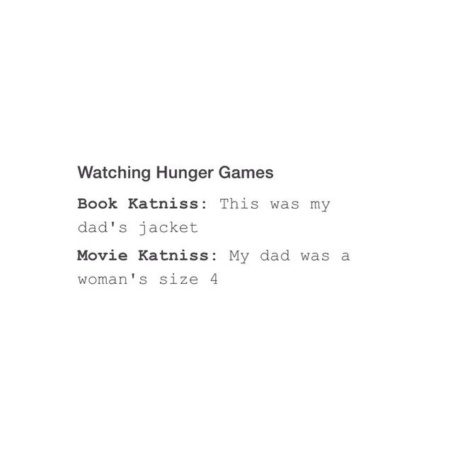 hunger games movie vs book The hunger games: book vs film  it is very true that a movie obtained from a book is not literally a page by page adaptation to the big screen.