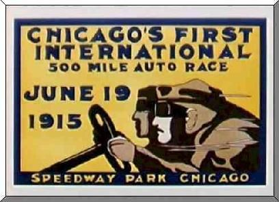 Speedway Park Chicago: Posters 1915,  Dust Jackets, 1915 Speedway, Racing Posters, Parks Chicago,  Dust Covers, 1915 Chicago, Speedway Parks,  Dust Wrappers