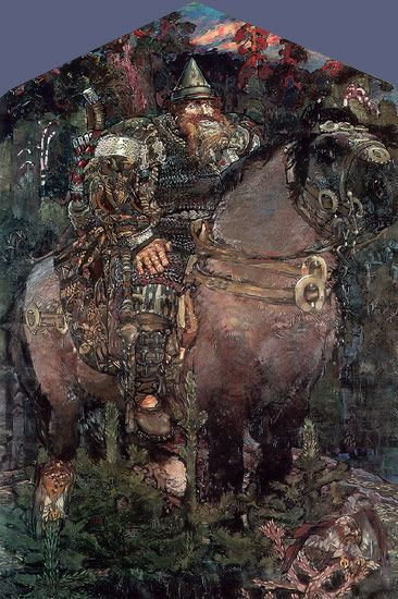 The Bogatyr - 1898  Russian Art: Mikhail Vrubel (1856-1910)