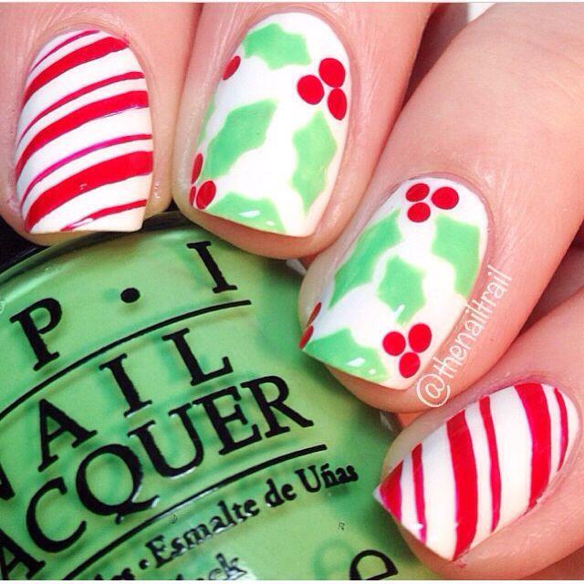 Mejores 115 imágenes de Christmas Nails en Pinterest | Uñas de ...