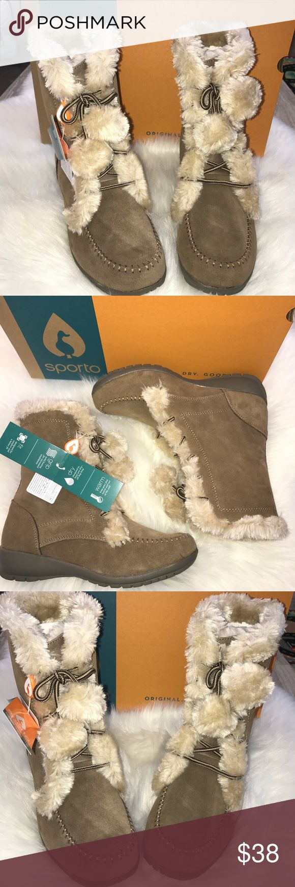 Sporto women's winter boots Brand new. Keep warm and dry  in the winter. Sand color Sporto Shoes Winter & Rain Boots
